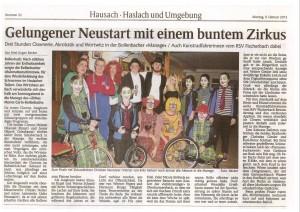 Zeitungsartikel Schnurren Bollenbach Februar 2015